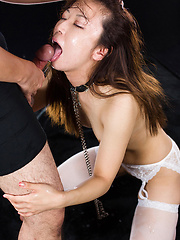 Cock hungry japanese whore Kitahara Chiaki deepthroat pics