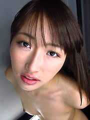 Aoki Mana showing her deep japanese mouth