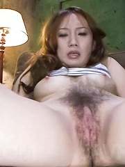 Kazumi Nanase Asian has juicy fish taco aroused with vibrators
