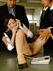 Hot secretary Iroha Kawashima gets drilled