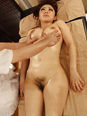 Japanese woman oiled massage