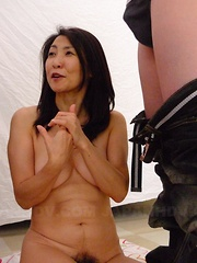 Two lovely Japanese darlings in a threesome