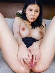 Sofia Takigawa with huge cans gets woodies in cunt more and more